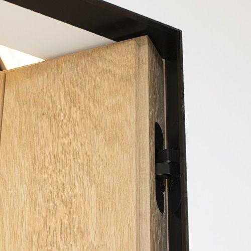 XinniX X240B zwart onzichtbaar deurkozijn