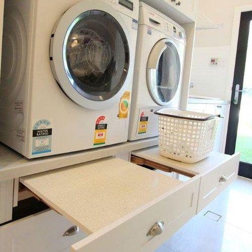 Lade onder wasmachine