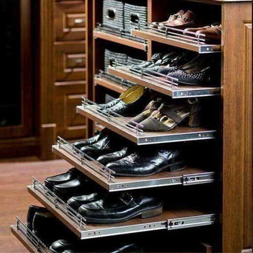 Uitrekbaar schoenenrek