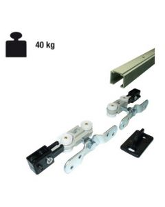Complete schuifdeur ophangset 40 Kg - deur max 115 cm - rails 230 cm lang