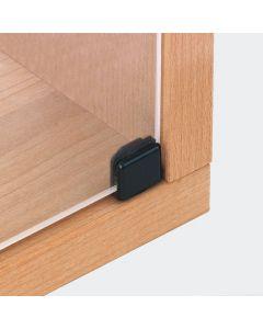 Glasdeurscharnier INLIGGEND - Zink zwart - Max deurafmeting H800 x B400 x D6,5 mm - openingshoek 90°