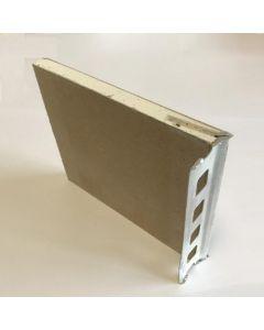 Gipsplaat met geïntegreerde stucstop 2600x120x9mm
