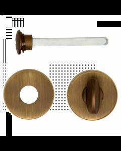 Toiletgarnituur rond - mat brons afgewerkt