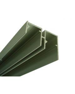 Aluminium onderrail lengte 6m