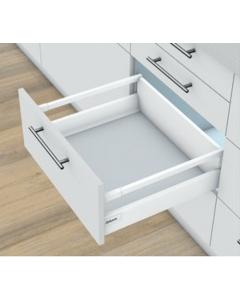 Blum Antaro Tip-On + Blumotion - Voorraadlade M/reling C - hoogte 192mm - 65kg - Zijdewit