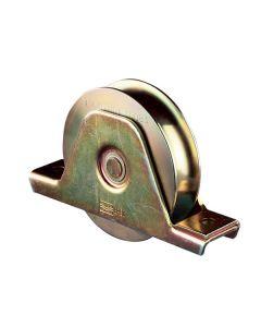 Wiel met u-groef staal verzinkt Max belasting 400 kg per stuk