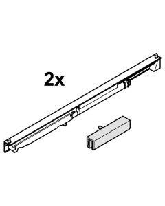 Demperset naar 2 zijden glazen schuifdeur max 120 Kg