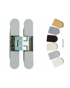 Onzichtbaar dranger deurscharnier -DIN L+R -mat chroom Max deurgewicht 60 Kg