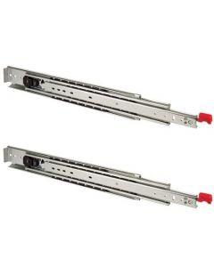 Ladegeleider met blokkering in OPEN & GESLOTEN toestand - lengte 550mm t/m 1500mm - 150 t/m 250Kg - Staal verzinkt