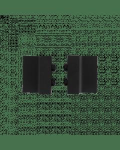 deurstopper - zwart staal verzinkt - 4 cm
