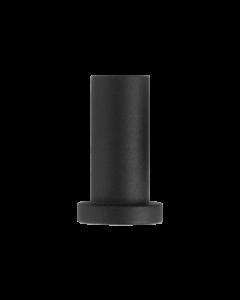 wandmontagesteun voor schuifdeur - zwart staal verzinkt - 5 cm