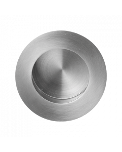 Ronde schuifdeurkom - RVS geborsteld - in diameter 40 mm tot 65 mm