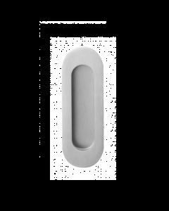 Ovale schuifdeurkom - geborsteld RVS - 120 x 40 mm