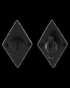 Toiletgarnituur ruitvormig - gietijzer zwart - 83x52x4mm