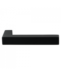 Set deurkrukken ZAKI - zwart RVS - L-haaks - vierkant 20x20 mm