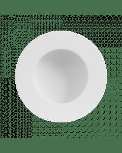 Ronde schuifdeurkom - wit RVS - in diameter 40 mm tot 65 mm