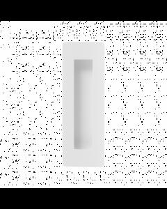 Rechthoekige schuifdeurkom - wit RVS - 180 x 50 mm