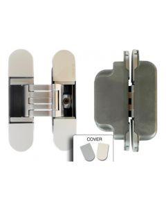 Voor kozijnen met koplat | Verdekt deurscharnier | Chroom mat | Max 60 Kg | Kubica K6300