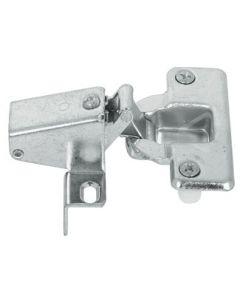 Klepscharnier recht of schuin- vervormbaar-  met plug en veer 22mm Om in te persen, met zelfsluitende functie