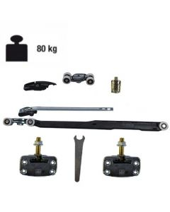 Ophangset systeem 1050 - met demping in één richting - deur >59,9 cm - deurgewicht max 80kg