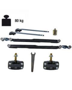 Ophangset systeem 1050 - met demping in twee richtingen - deur >92,3 cm - deurgewicht max 80 kg