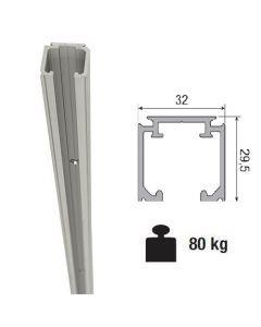 Aluminium schuifdeurrail 300 cm - max 80 Kg/meter