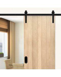 ACTIE ARTIKEL Model A schuifdeursysteem - rail bestaat uit 2 delen van 100 cm - voor een deur van 100 cm breed - alle onderdelen zijn inbegrepen