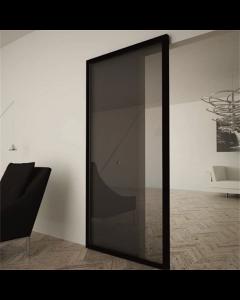 Onzichtbaar schuifdeursysteem voor glazen binnendeuren   Ironw@re