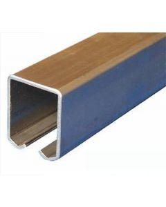 Schuifdeur rail - staal verzinkt - L=400 cm - Maximale belasting 600 kg/meter