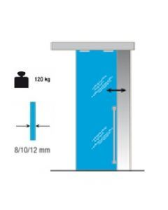 Schuifdeursysteem Pro 120kg - 1700 Glas
