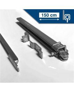 Compleet ophangsysteem schuifdeur max 150 cm breed - WANDmontage - rail lengte 300 cm