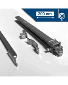Compleet ophangsysteem schuifdeur max 200 cm breed - WANDmontage - rail lengte 400 cm