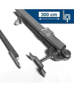 Compleet RVS ophangsysteem max. 300 cm -WANDmontage