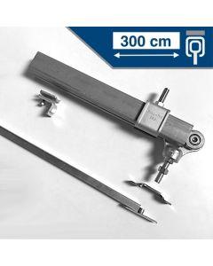 Compleet ophangsysteem schuifdeur max 300 cm PLAFONDmontage rail