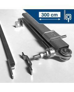 Compleet ophangsysteem schuifdeur max 300 cm- WANDmontage rail