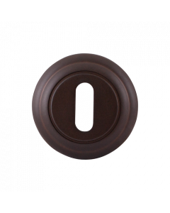Sleutelrozet rond - antiek brons afgewerkt - 51mm diameter