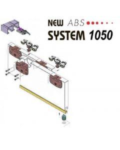 Voorbeeld set - Schuifdeurkast systeem 1050 met SOFTCLOSE - inliggend 80 Kg