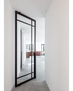 Taatdeur systeem Portapivot 6530 stalen taatsdeur met glas - frame rondom - deuren B650 t/m 2250 x H1800 t/m 2950 mm