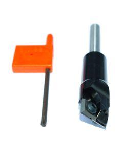 Keermes groeffrees 18 mm - snijlengte 12,5 mm - lengte 122 mm Schacht 12 mm