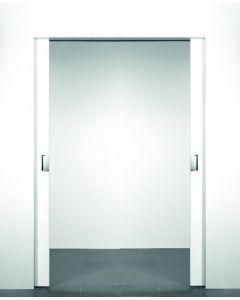 X5 schuifdeursysteem 201 x 2x123 cm XINNIX dubbele deur Profiel 75 mm - wanddikte 100 mm
