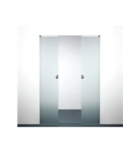 X5D schuifdeursysteem 201 x 103 cm XINNIX Glas dubbele deur - Profiel 50 mm - wanddikte 100 mm