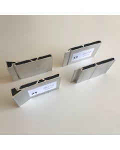 Verticale profielen - enkele beplating deurhoogte max 2315 - deurbreedte max 1030 mm
