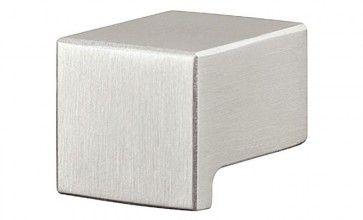 RVS mat vierkante meubelknop (klik voor maten)