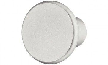 133.74.903 Al. zilver geëloxeerd ronde meubelknop 18x29 mm