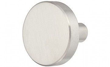 RVS mat ronde meubelknop (25x22 en 32x25 mm)