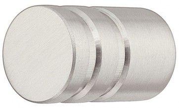 134.88 (601/602) RVS mat ronde meubelknop (15x30 en 20x30 mm)