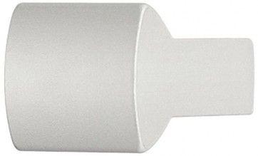 Aluminium zilver geëloxeerd halfrond meubelknop 15x25 mm