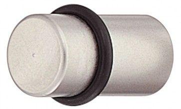 messing, sokkel: vernikkeld mat, Ring: zwart meubelknop 9x16 mm