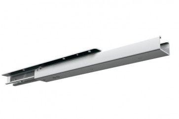 Display ladegeleider staal zwart gepoedercoat - max 80 Kg - Inbouwlengte 995 mm - uittreklengte 750 mm