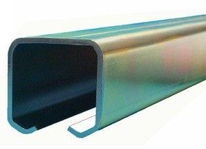 Schuifdeur rail staal verzinkt - L=400 cm - Maximale belasting 200 Kg/meter